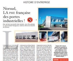 Article Norsud La PME francaise des portes industrielles
