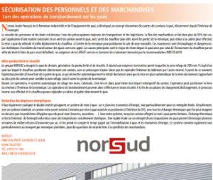 Article Norsud sécurisation des personnels et des marchandises
