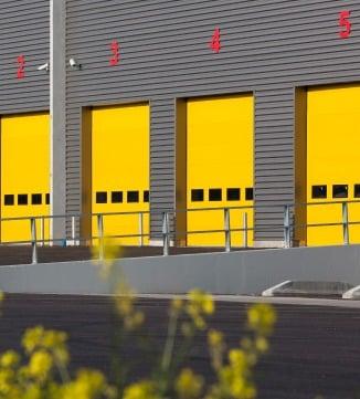 Portes sectionnelles jaune Norsud