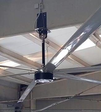 Zoom sur ventilateur d'entrepot Norsud