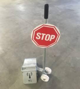 Cale de roue acier STOP Norsud
