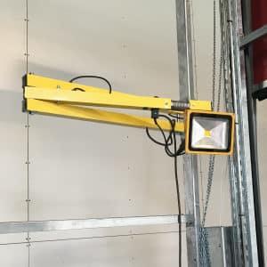 Solution lampe de quai à Led jaune retractable norsud